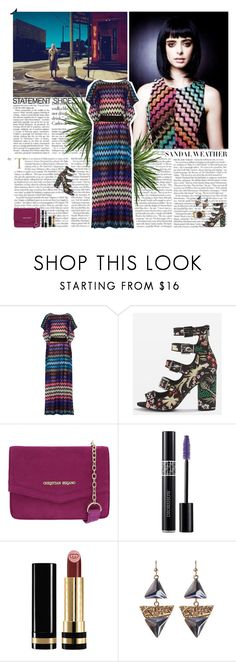 """Untitled #2974"" by helena99 ❤ liked on Polyvore featuring GINTA, Missoni, Topshop, Christian Dior, Gucci, Allegra, sandals, maxidress, missoni and krystenritter"