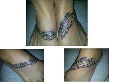 Feet- half and full marathon tattoos