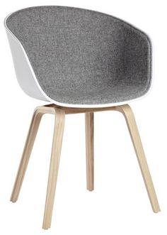 About a chair Gepolsterter Sessel / 4 Füße - Sitzfläche mit Stoff ausgekleidet - Hay