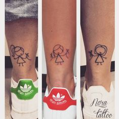 Many people mistake tattoos with more modern, rebellious cultures such as the alternative and pop-culture. Despite a lot of people being convinced that tattoos are a new thing and despite many peop… Cousin Tattoos, Mom Daughter Tattoos, Sibling Tattoos, Best Friend Tattoos, Family Tattoos, Tattoos For Daughters, Sister Tattoos, Siblings Tattoo For 3, Mini Tattoos