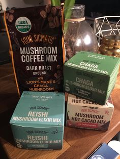 Mushroom coffee 🍄 from Four Sigmatic Coffee Mix, Lion Mane, Dark Roast, Healthy Living, Stuffed Mushrooms, Yoga, Stuff Mushrooms, Healthy Life, Healthy Lifestyle