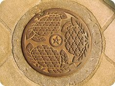 Japanese manhole cover:Nagasaki city