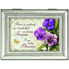"""Blessed Friends"" Music Box"