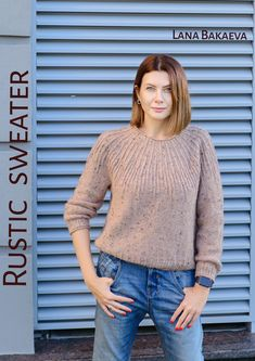 Ravelry: Rustic sweater pattern by Lana Bakaeva Summer Knitting, Lace Knitting, Knit Crochet, Ladies Cardigan Knitting Patterns, Cardigan Pattern, Lace Sweater, Mohair Sweater, Only Clothing, Knitwear Fashion
