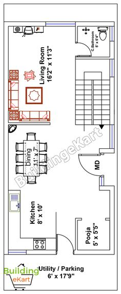 House plan for 15 feet by 50 feet plot plot size 83 35x60 house plans
