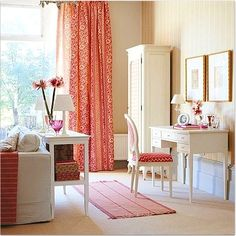 Living Room - Neutrals - Office - Pop of Color