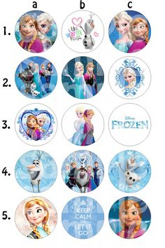 Frozen Inspired Bottle Cap Images by HelloLovelyCreations on Etsy, $1.86
