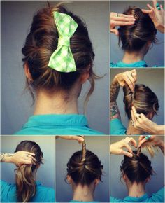French twist and bow! #hair  Month of Mae hair bow giveaway! - How To Hair - DIY Hair Resource From How To Hair Girl