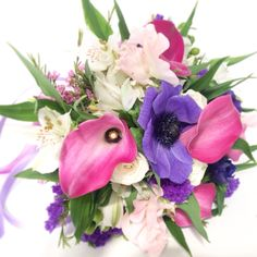 Calla lilies and Anemone