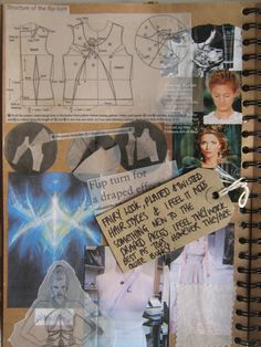 ✏️ Define : Fashion Sketchbook - Student WIP Sketches and Textile Design Process Sketches, Collage, Moodboard - Key Inspirational Sketchbook Pages. Sketchbook Layout, Textiles Sketchbook, Gcse Art Sketchbook, Fashion Design Sketchbook, Fashion Design Portfolio, Sketchbook Inspiration, Fashion Sketches, Sketchbook Ideas, Fashion Drawings