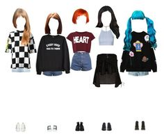 """""""Promise on Weekly Idol : Second Appearance"""" by promise-official ❤ liked on Polyvore featuring Topshop, River Island, Private Party, Versace, Miss Selfridge, Chicnova Fashion, Influence, Alexander McQueen, Converse and Timberland"""