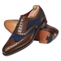 Brown and navy Caxton Correspondents - Charles Tyrwhitt