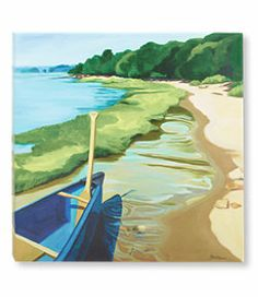 #LLBean: Afternoon Canoe Ride Canvas Wall Art