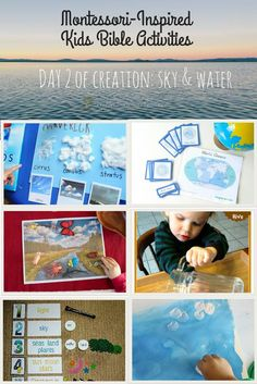 Enjoy Montessori Inspired Creation sky and water hands-on learning activities for children of all ages.
