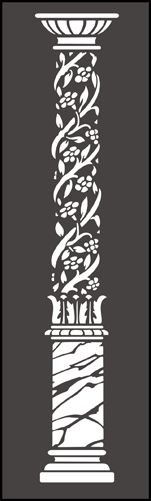 Click to see the actual AR37-M - Floral Pillar stencil design.