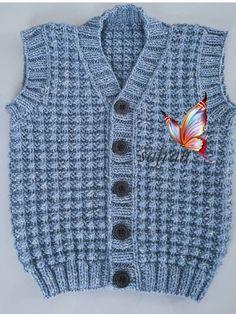 Knitting Patterns Boys, Knitting For Kids, Knitting Designs, Best Beauty Tips, Beauty Hacks, Moda Emo, Baby Vest, Knit Vest, Down Hairstyles