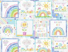 Pastel Colour Palette, Pastel Colors, Wilmington Prints, Order Of The Day, Rain Drops, Happy Today, Rowan, Positive Messages, Dream Big