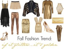 """""""Fall Fashion Trend: Gold"""" by ltretail on Polyvore"""