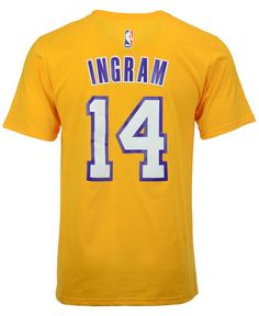 adidas Men s Brandon Ingram Los Angeles Lakers Player T-Shirt Los Angeles  Lakers Players 0ea7ac018