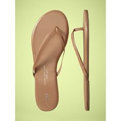 Gap Leather Flip Flops found on Polyvore