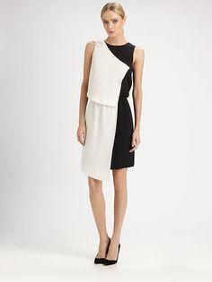 Tibi silk crepe De chine dress