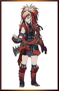 MHGen - Redhelm Azuros Female Armor