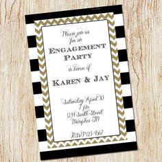 Engagement Party Invitation rehearsal dinner by peachymommy, $15.00
