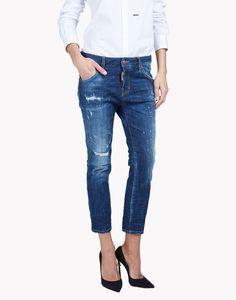 cool girl cropped jeans джинсы Для Женщин Dsquared2