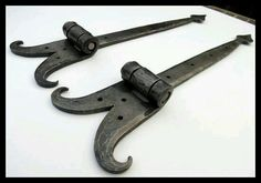 Your place to buy and sell all things handmade Hand Forged Strap Hinges Forged by Blacksmith Naz by NazForge Metal Projects, Metal Crafts, Blacksmithing Knives, Welding Shop, Strap Hinges, Blacksmith Forge, Metal Bending, Rustic Hardware, Blacksmith Projects