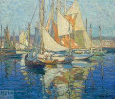 'Concarneau Harbor', by Edgar Payne.  (1883-1947)