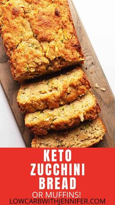 This low carb and keto zucchini bread is made with almond flour and is perfectly moist. Walnuts, blueberries or chocolate chips can be added for extra flavor and crunch. I also give instructions for freezing and making muffins. Keto Banana Bread, Best Keto Bread, Keto Almond Bread, Coconut Flour Bread, Almond Flour Recipes, Sugar Bread, Almond Flour Muffins, Almond Cookies, Keto Cookies