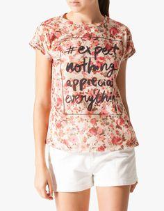 Stradivarius T-shirt estampada