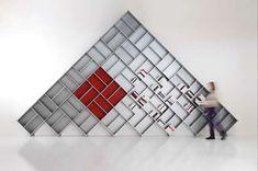 The Pyramid Bookcase Gives Your Books a Futuristic Twist #homedecor trendhunter.com