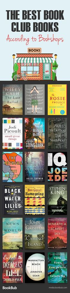 The best book club ideas and book club books, according to bookshops! This reading list has great books for women and other popular fiction.