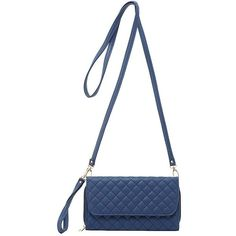 Charlotte Russe Quilted Detachable Strap Crossbody Bag ($16) ❤ liked on Polyvore featuring bags, handbags, shoulder bags, navy, crossbody pouch, change purse, crossbody handbag, quilted shoulder bag and zippered coin pouch
