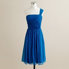 Blue bridesmaids dress.