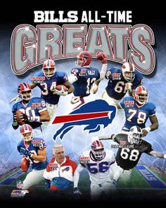 Buffalo Bills Football All-Time Greats (9 Legends) Premium Poster Print ~available at www.sportsposterwarehouse.com
