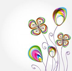 colorful flowers background pattern 02 vector