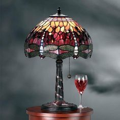Red dragonfly small tiffany table lamp 64096 tiffany lighting red dragonfly medium tiffany lamp by interiors 1900 64096 mozeypictures Gallery