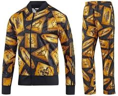 low priced a158f c09f6 ADIDAS OBYO JEREMY SCOTT PLAQUE TRACK SUIT JACKET TOP and PANTS BLACK GOLD  G76059 G86569  300