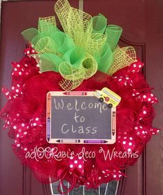 Like this idea for my classroom door now that it's one piece-  Could write reminders/class notes on the chalkboard!  Genius!