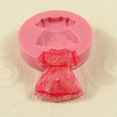 Baby Girl Dress Flexible Silicone Mold/Mould (20mm) $4.85