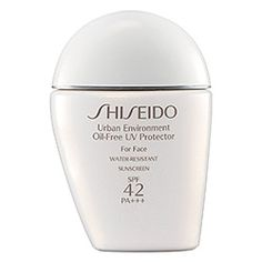 Shiseido Urban Environment Oil–Free UV Protector SPF 42 PA+++ | I loved this one because of it's superior protection against UVA (wrinkle-causing) rays and UVB (burning) rays.  Plus, it is oil free!  I refused to use anything else for awhile.  Every time I switch to something else, I keep coming back to this one.