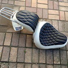 custom motorcycle seat .. design pattern adaptable to trucks