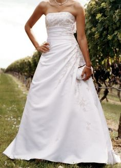 Beautiful A - Line wedding gown by Davids Bridal. Perfect for any outdoor wedding<3