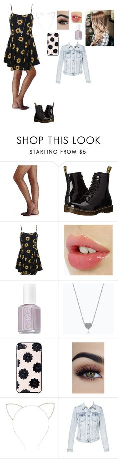 """""""Untitled #73"""" by pinky2005 ❤ liked on Polyvore featuring 2b bebe, Dr. Martens, Essie, Kate Spade, Forever 21 and Zara"""