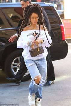 Casual cool: Rihanna looked stunning as always while out and about in New York City on Wednesday