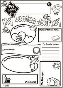 Catholic Kids Arts And Craft Gift My Lenten Journey HUGE 21 Coloring Poster