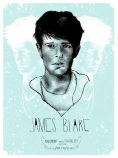 James Blake poster designed by Meg Vazquez