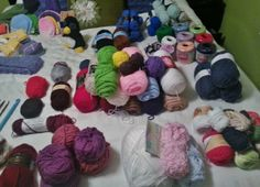 Pretty yarn! What's your stash look like?? This is organized by brand and type.